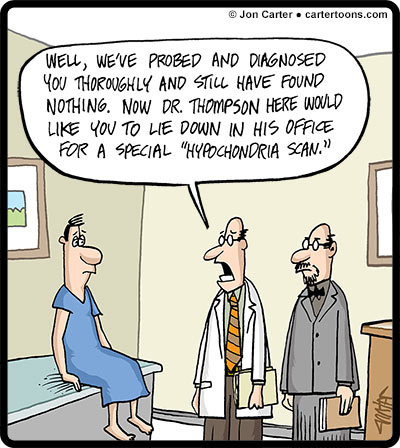hypochondria medical news On a spring day in 2015, i woke up to the news that a reporter had died of a brain  aneurysm shortly after completing an assignment, she had.