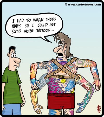 Download funny tattoo cartoons cartertoons for Funny cartoon tattoos